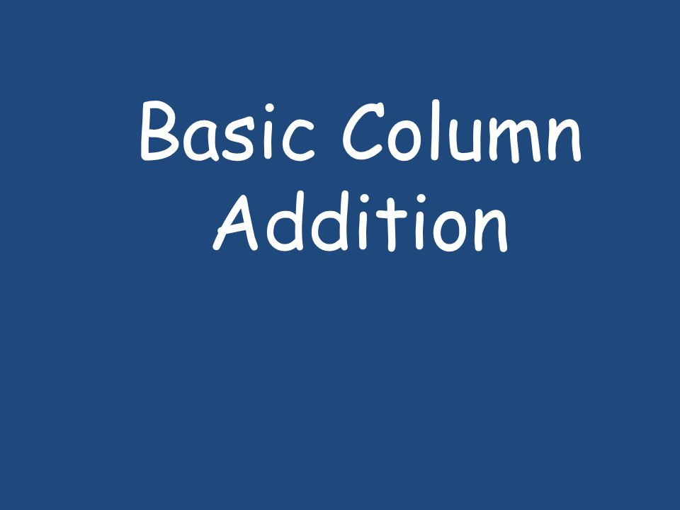 Basic Column Addition