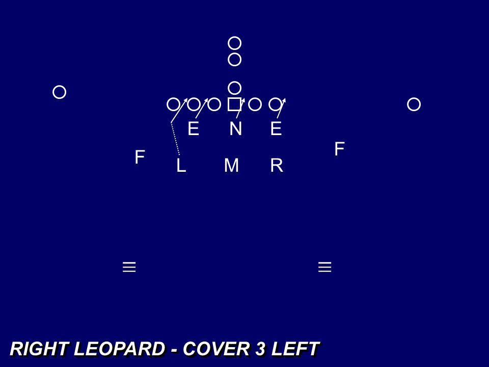 E N E F F L M R _ _ _ _ _ _ RIGHT LEOPARD - COVER 3 LEFT