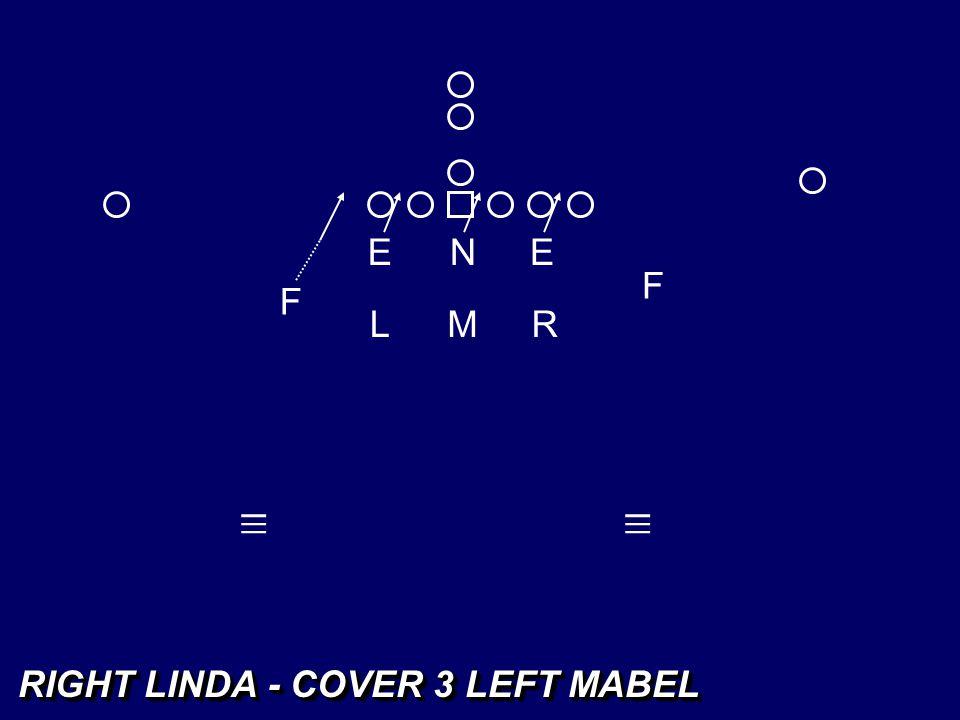E N E F F L M R _ _ _ _ _ _ RIGHT LINDA - COVER 3 LEFT MABEL