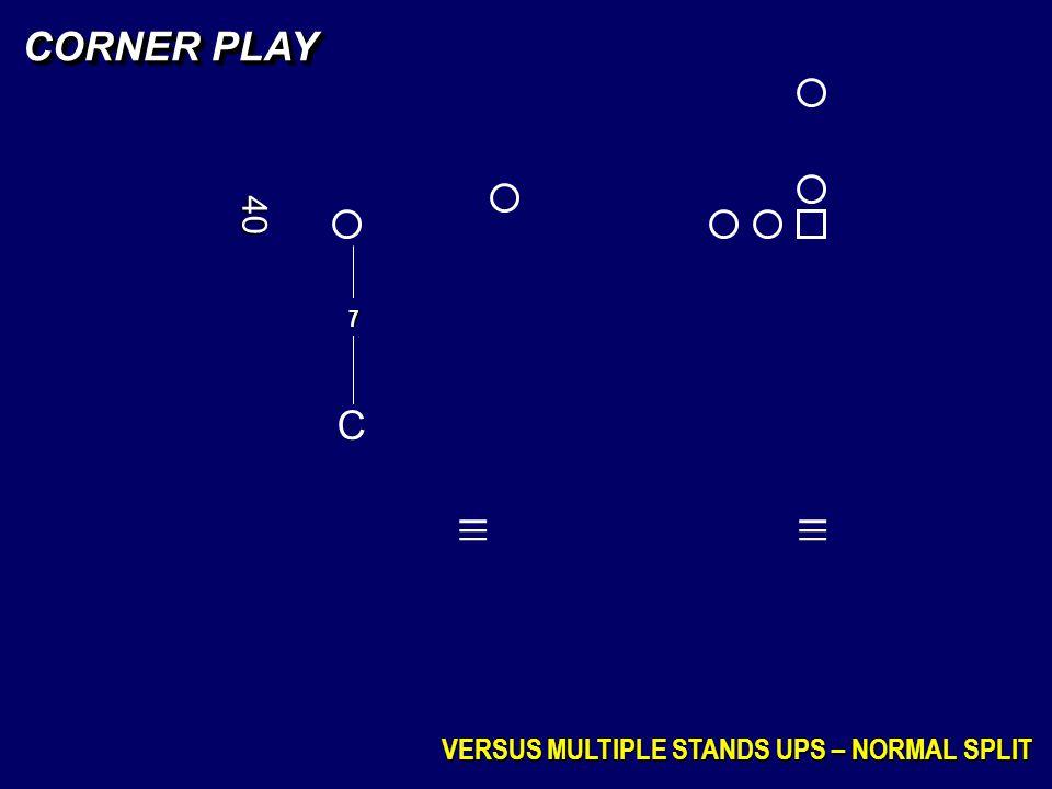 _ _ _ _ _ _ CORNER PLAY C 40 VERSUS MULTIPLE STANDS UPS – NORMAL SPLIT
