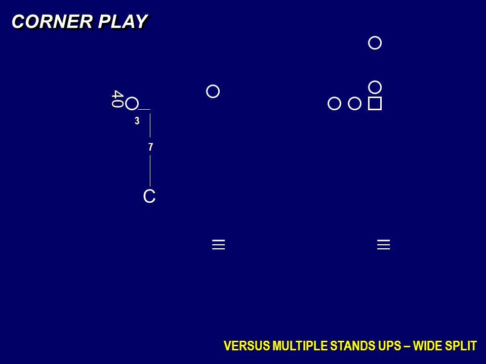 _ _ _ _ _ _ CORNER PLAY C 40 VERSUS MULTIPLE STANDS UPS – WIDE SPLIT 3