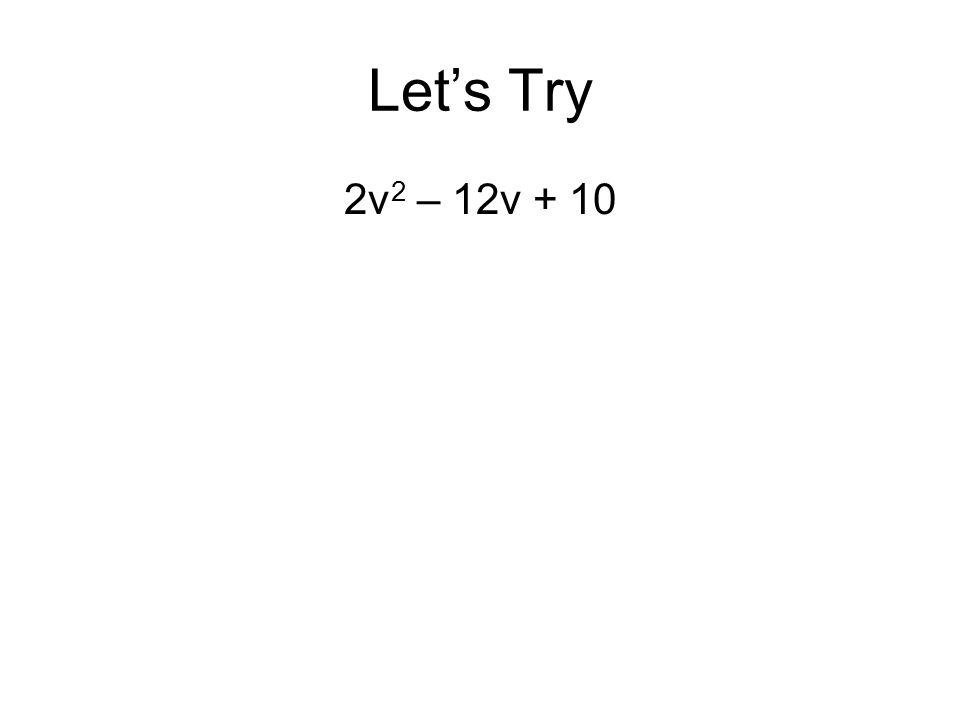 Let's Try 2v2 – 12v + 10