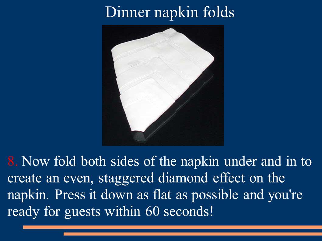 Dinner napkin folds