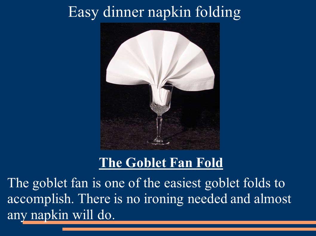 Easy dinner napkin folding