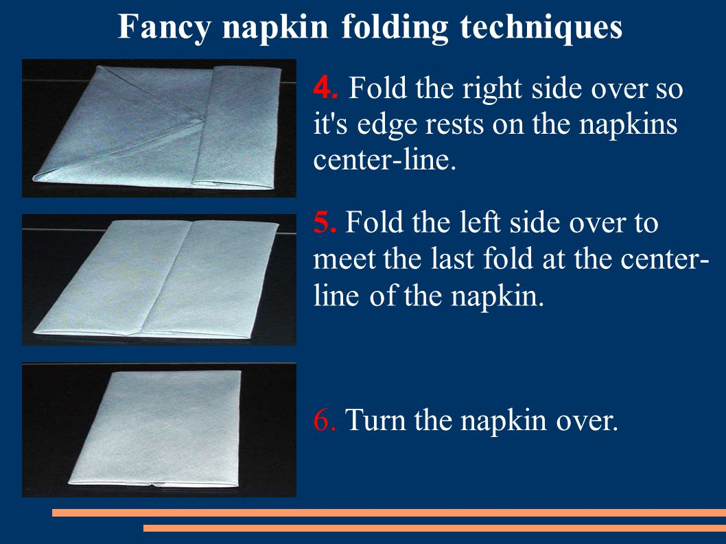 Fancy napkin folding techniques