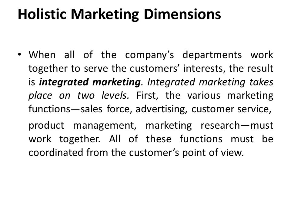 Concept of holistic marketing