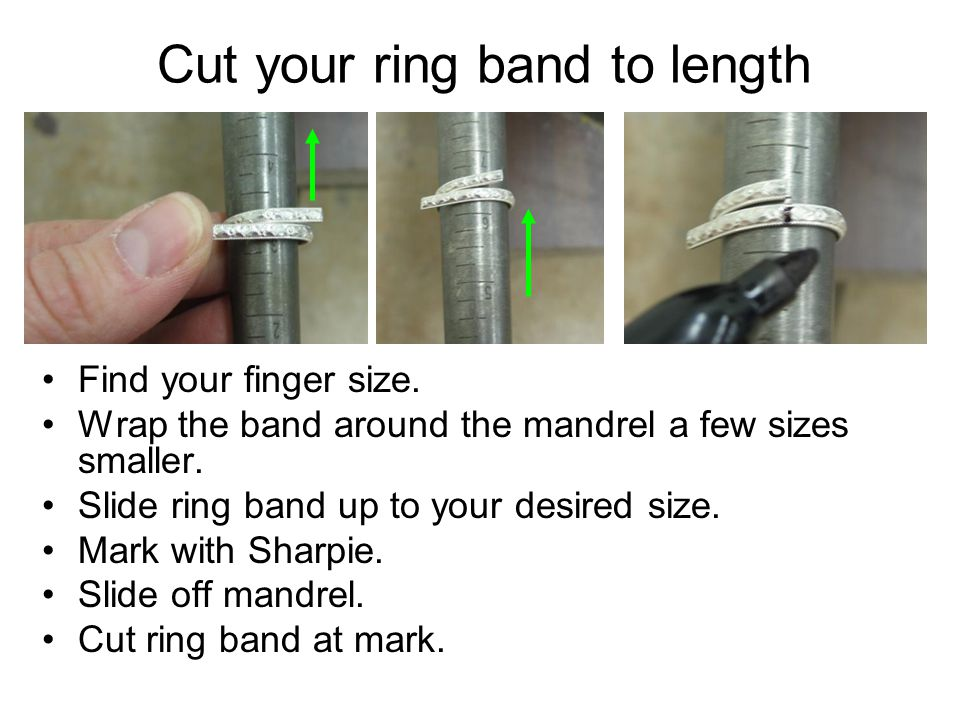 Cut your ring band to length
