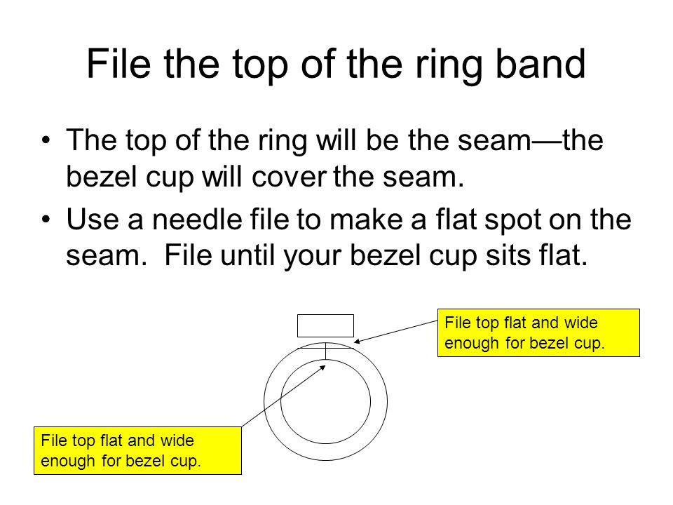File the top of the ring band
