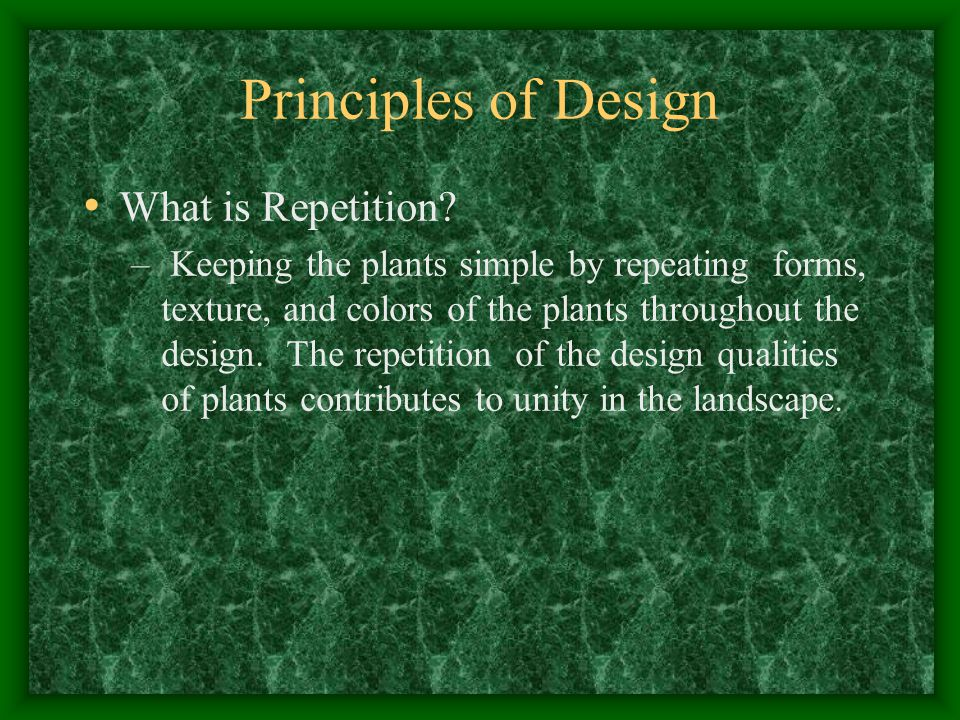 Principles of Design What is Repetition