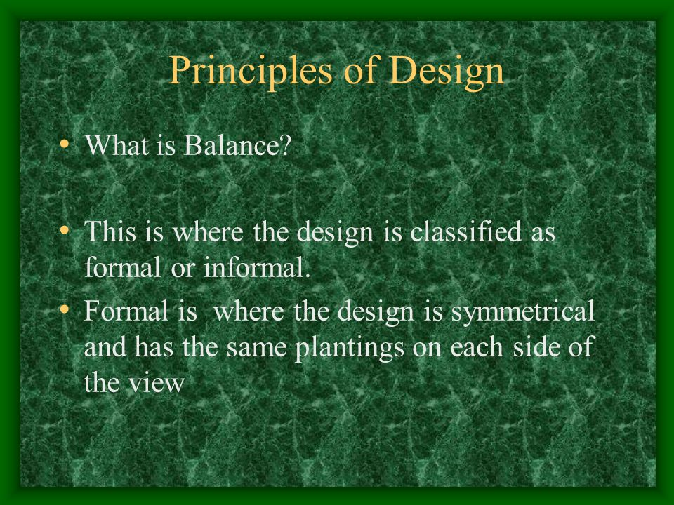Principles of Design What is Balance