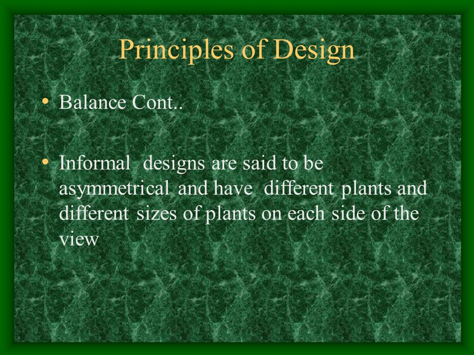 Principles of Design Balance Cont..