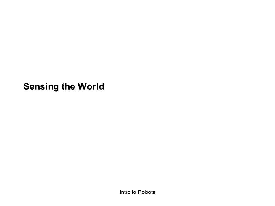 Sensing the World Intro to Robots
