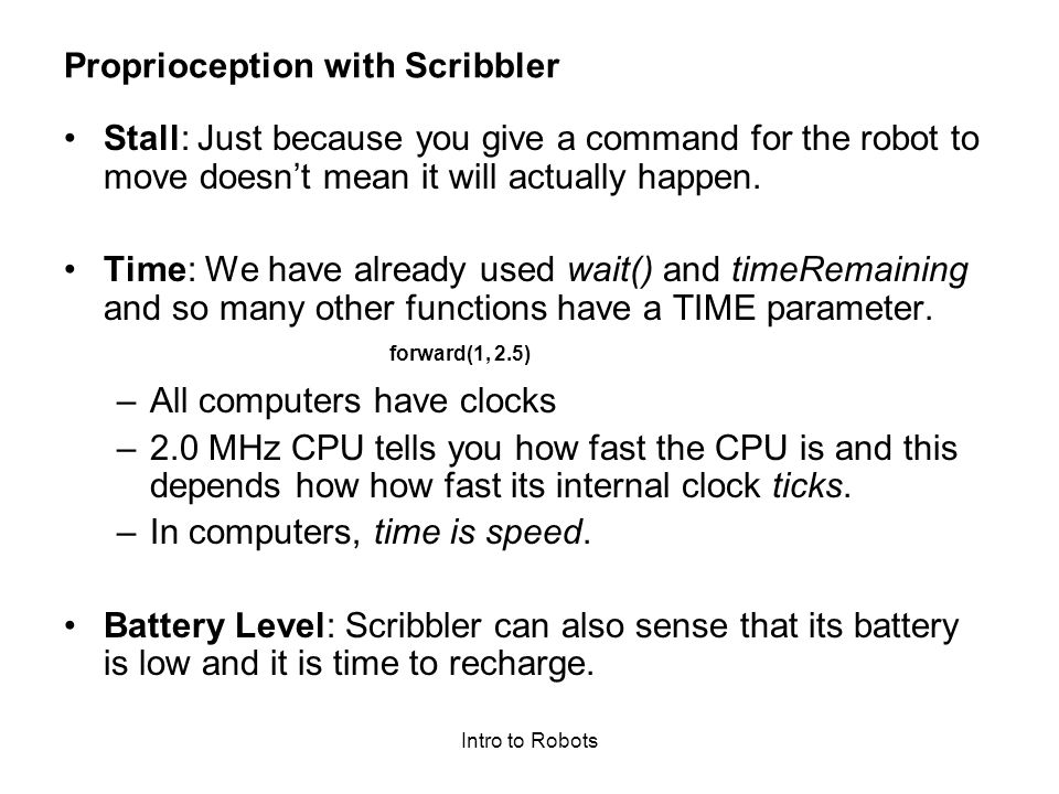 Proprioception with Scribbler