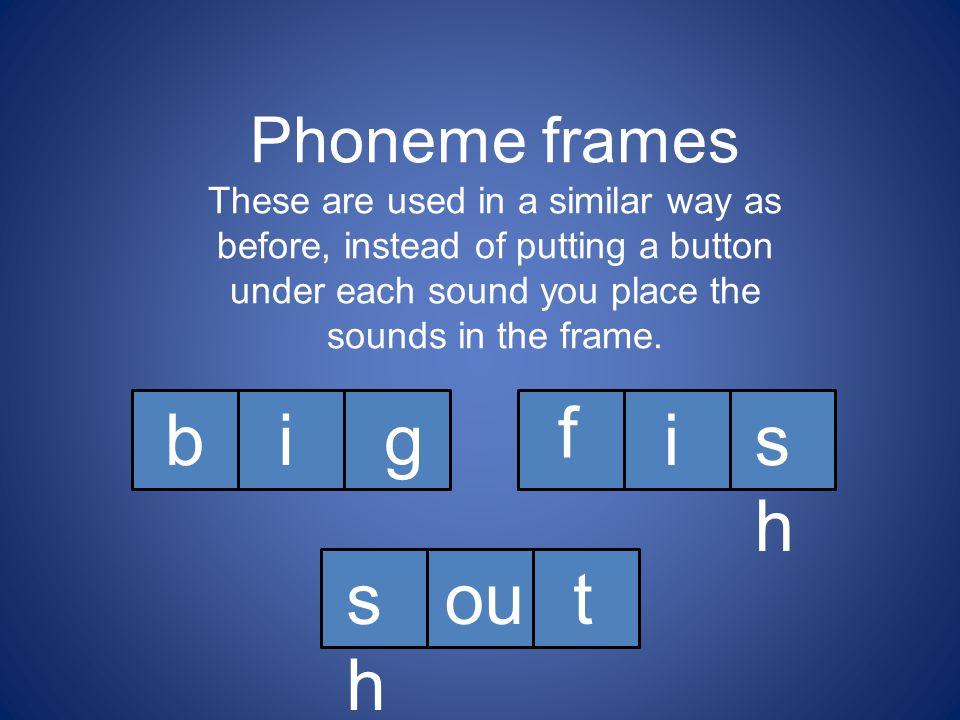 f b i g i sh sh ou t Phoneme frames