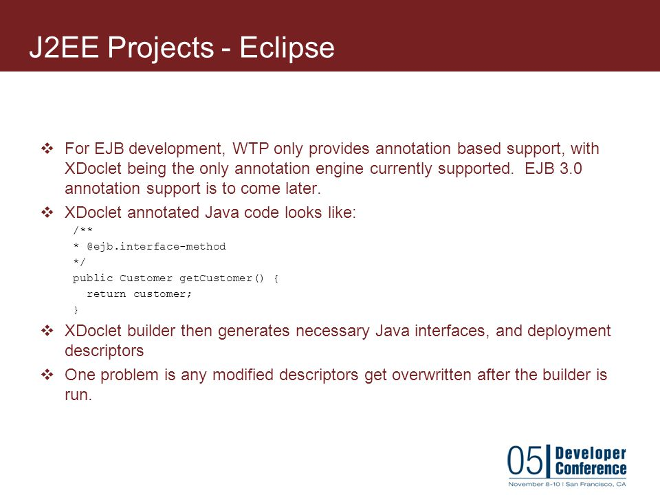 J2EE Projects - Eclipse