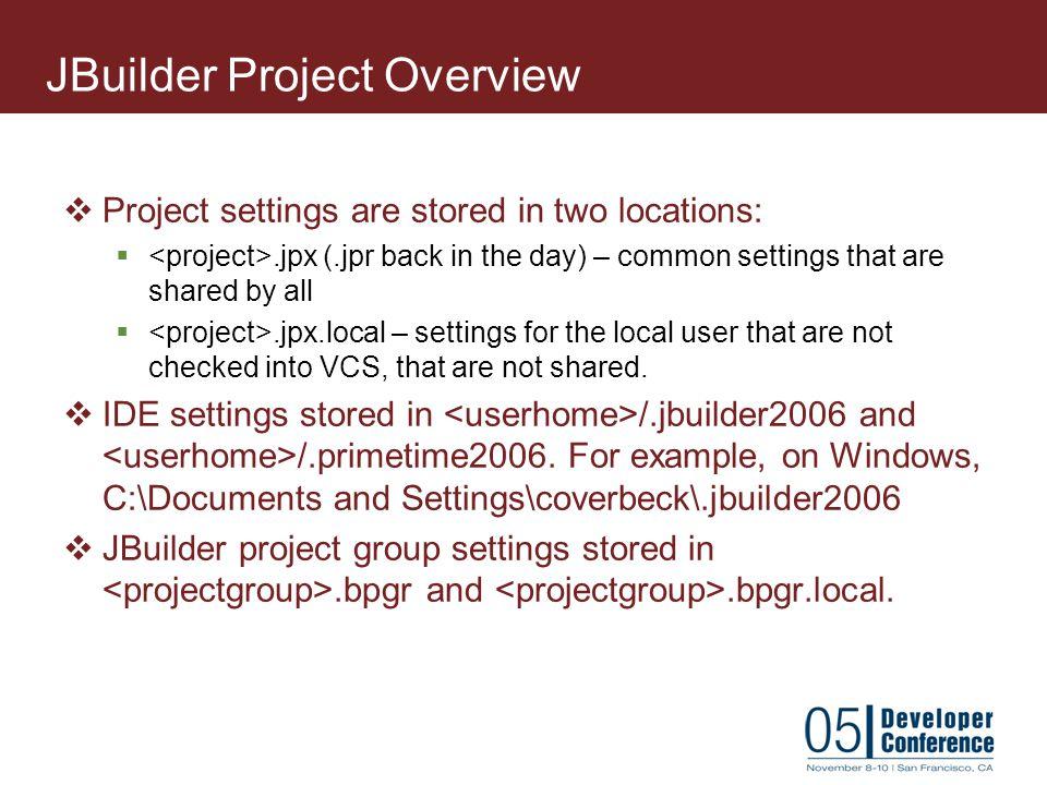 JBuilder Project Overview