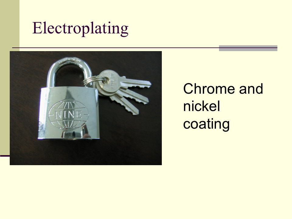 Electroplating Chrome and nickel coating
