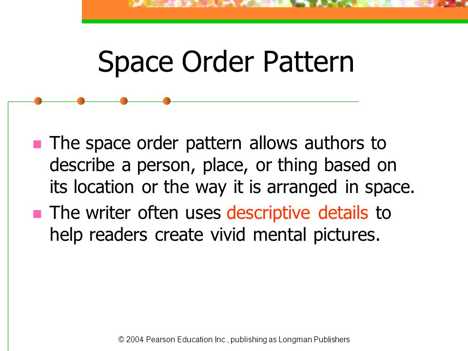 Space Order Pattern