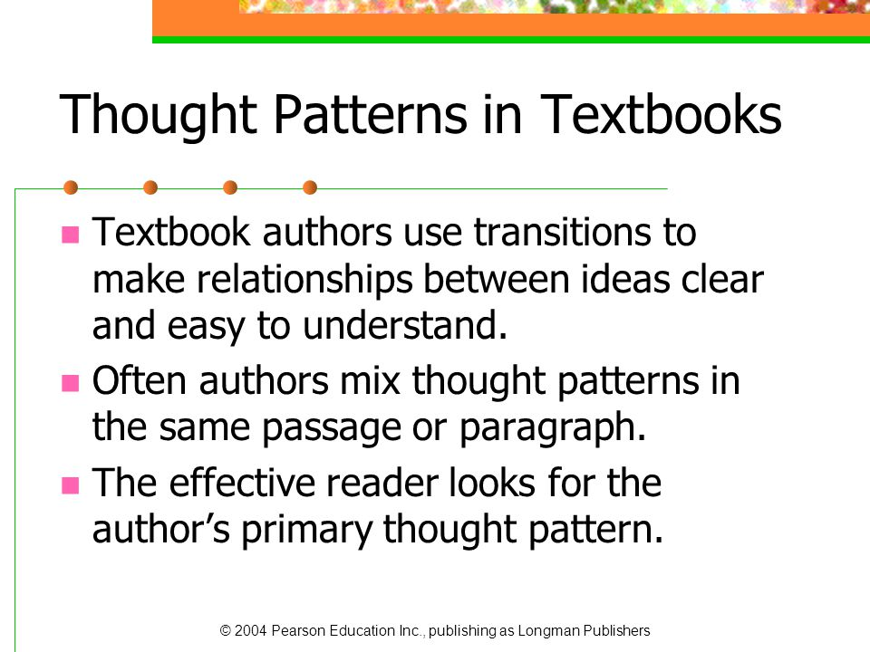 Thought Patterns in Textbooks