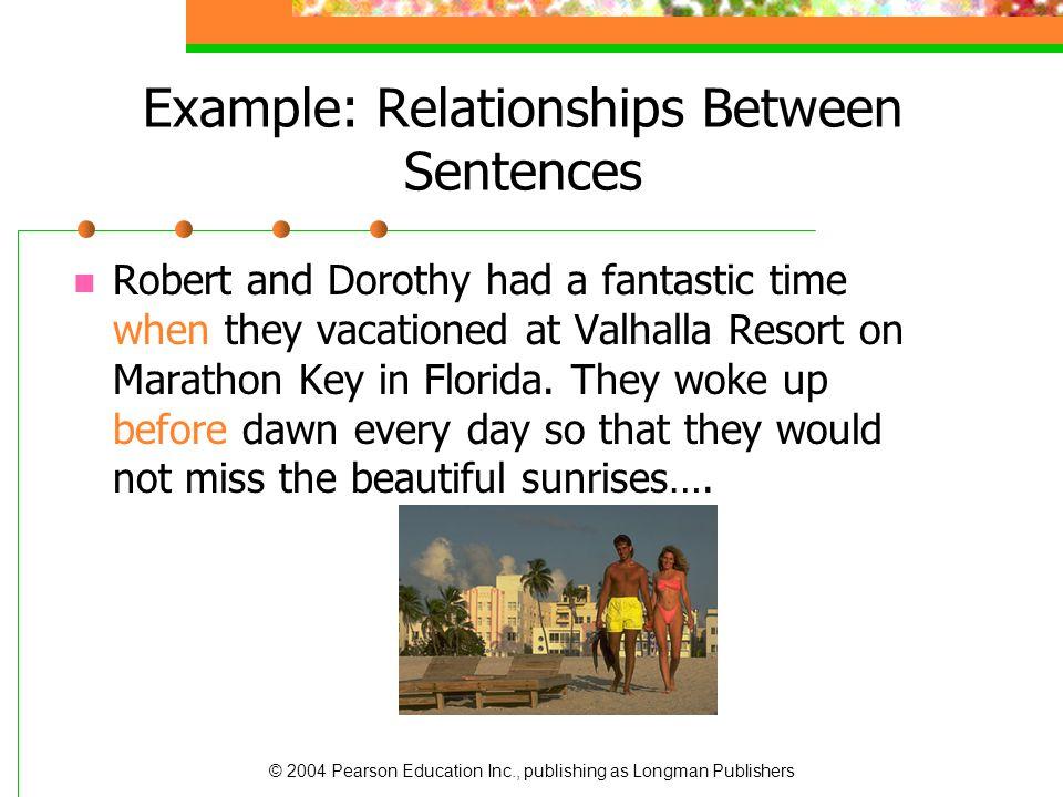 Example: Relationships Between Sentences