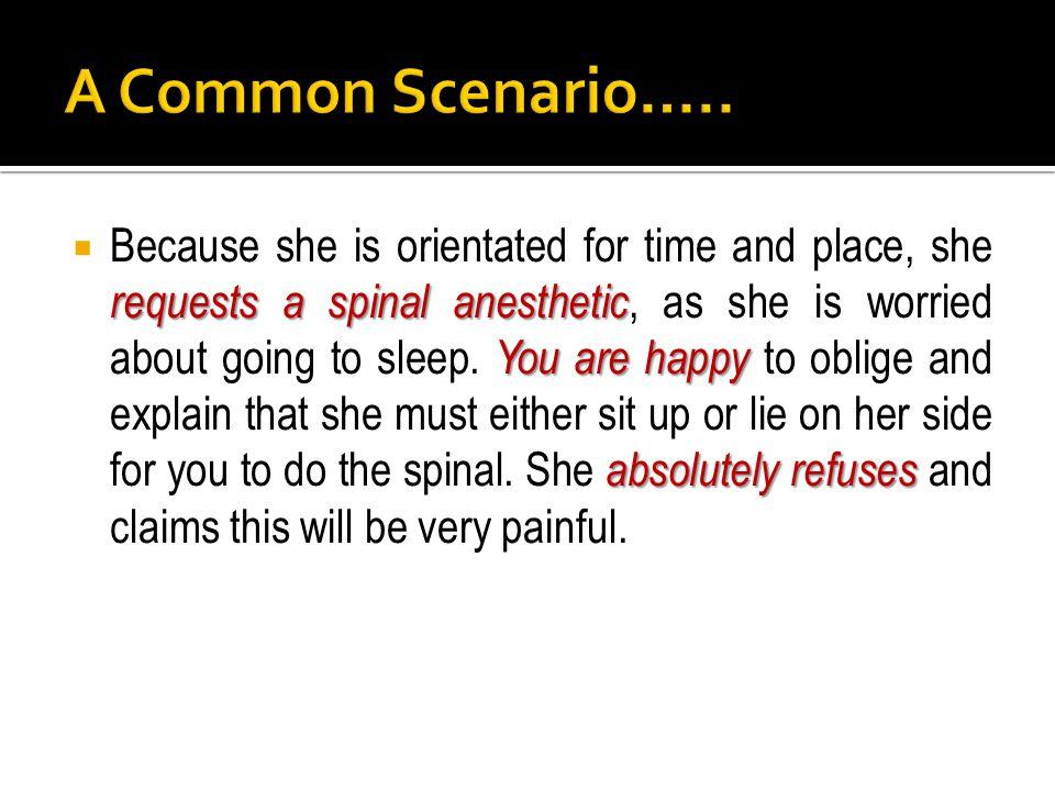 A Common Scenario…..