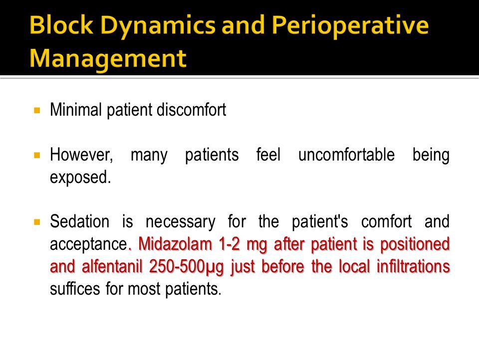 Block Dynamics and Perioperative Management