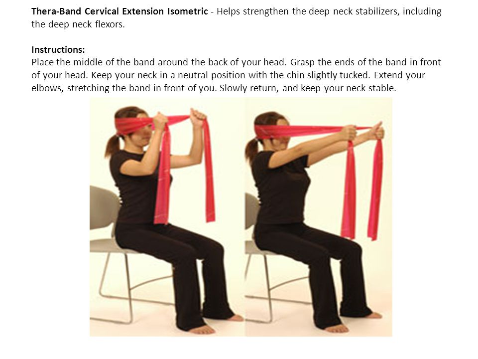 Thera-Band Cervical Extension Isometric - Helps strengthen the deep neck stabilizers, including the deep neck flexors.