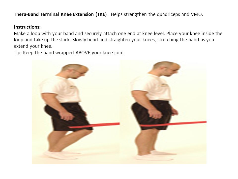 Thera-Band Terminal Knee Extension (TKE) - Helps strengthen the quadriceps and VMO.