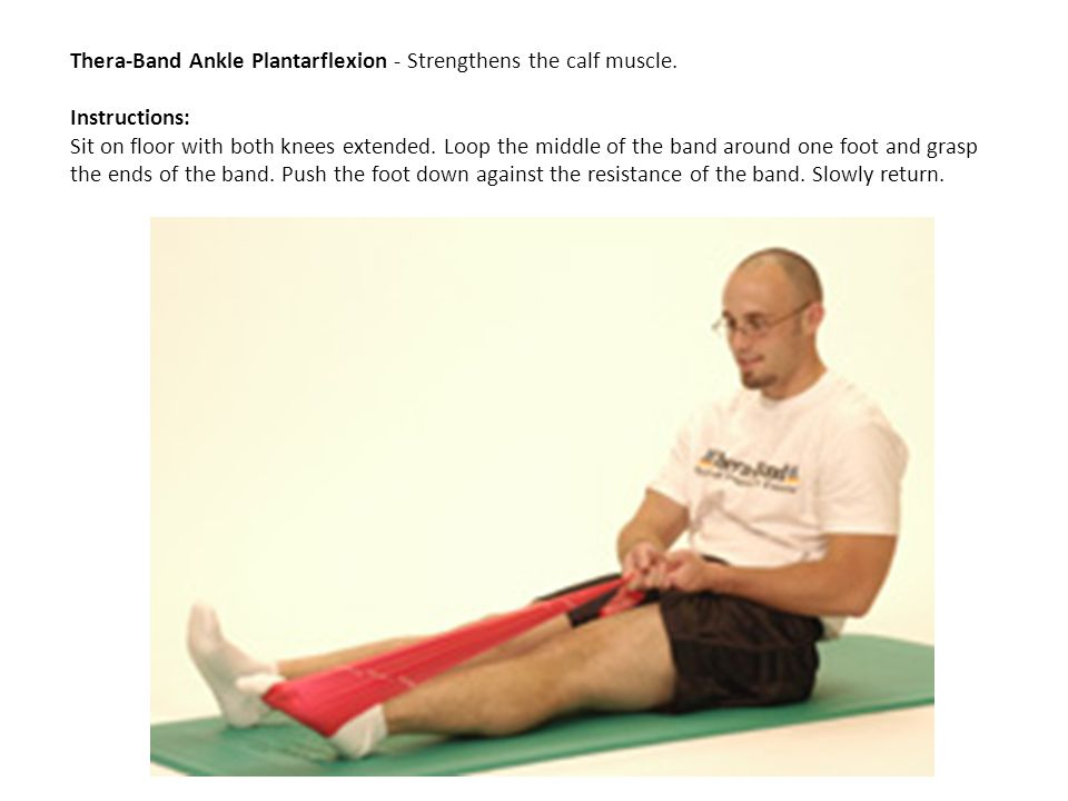Thera-Band Ankle Plantarflexion - Strengthens the calf muscle