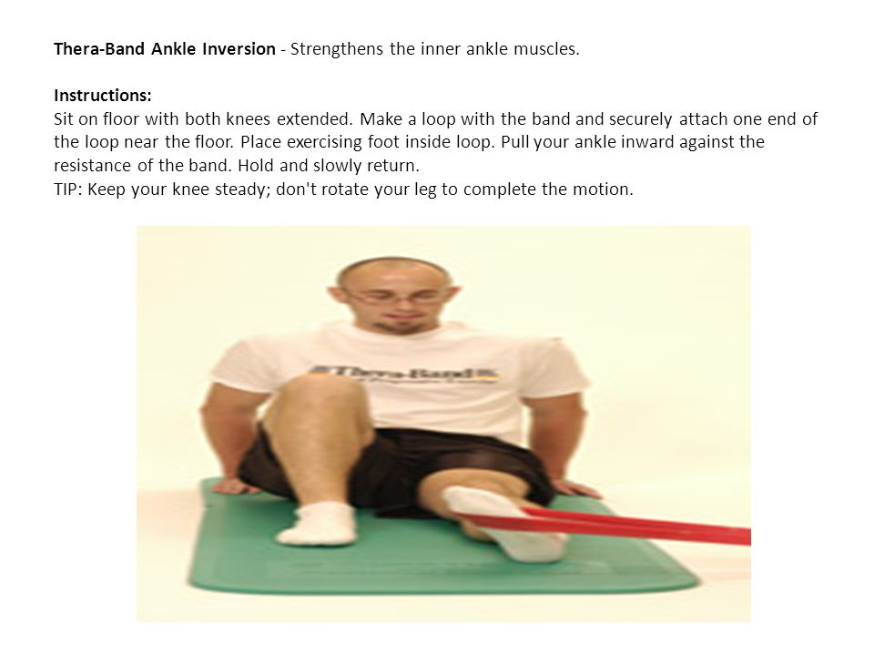 Thera-Band Ankle Inversion - Strengthens the inner ankle muscles