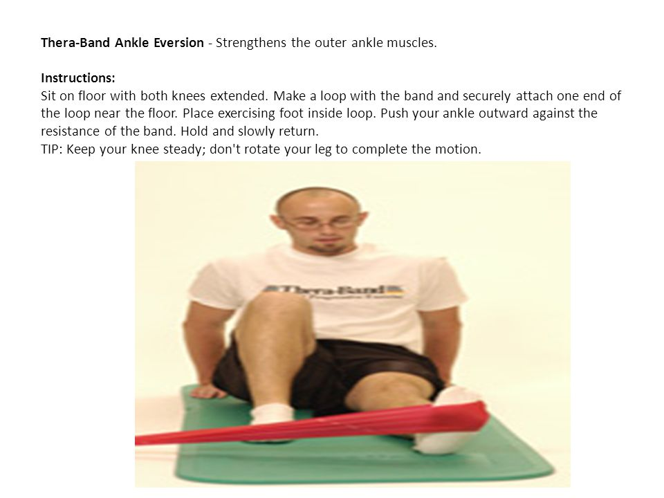 Thera-Band Ankle Eversion - Strengthens the outer ankle muscles