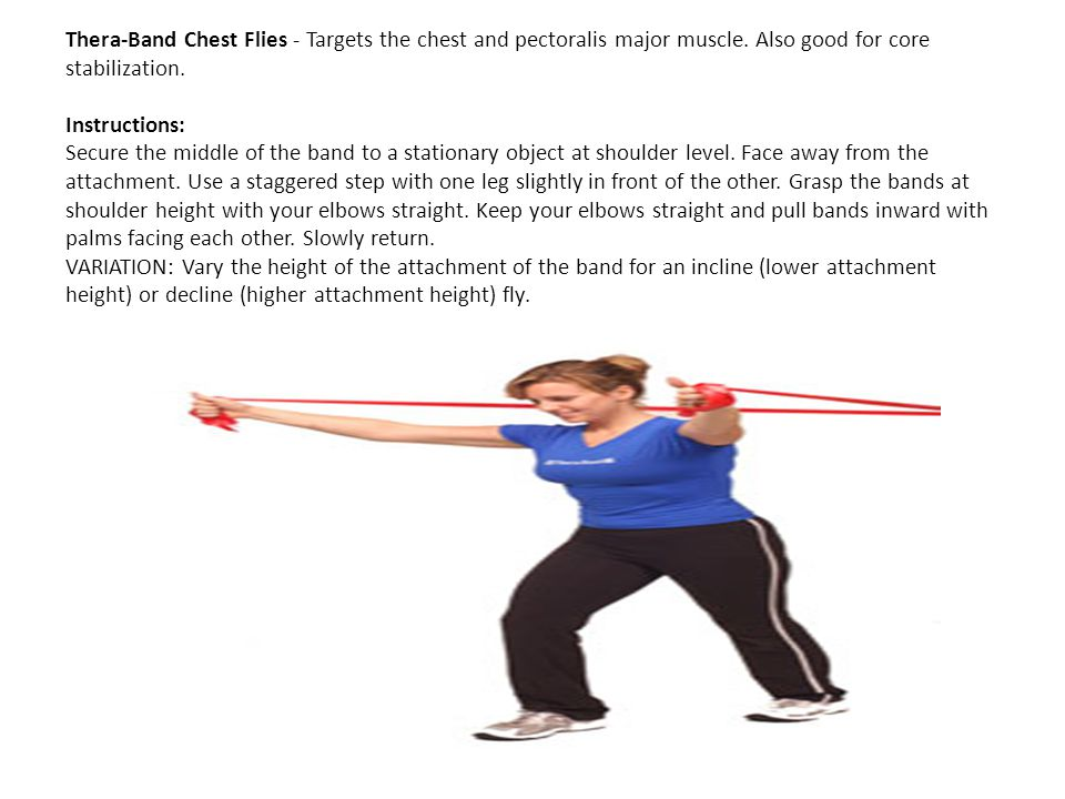Thera-Band Chest Flies - Targets the chest and pectoralis major muscle