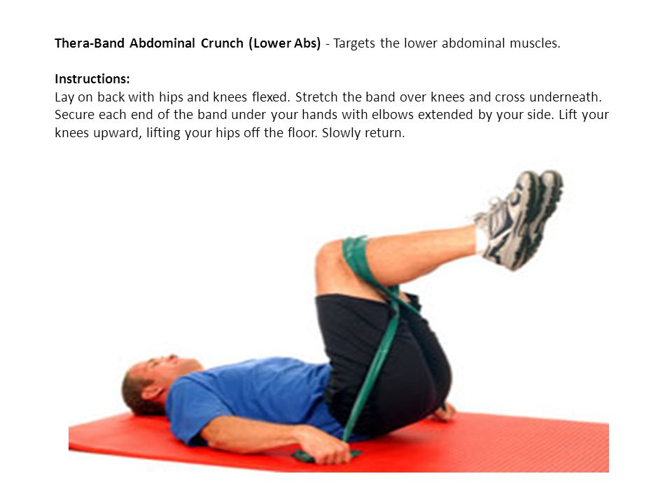 Thera-Band Abdominal Crunch (Lower Abs) - Targets the lower abdominal muscles.