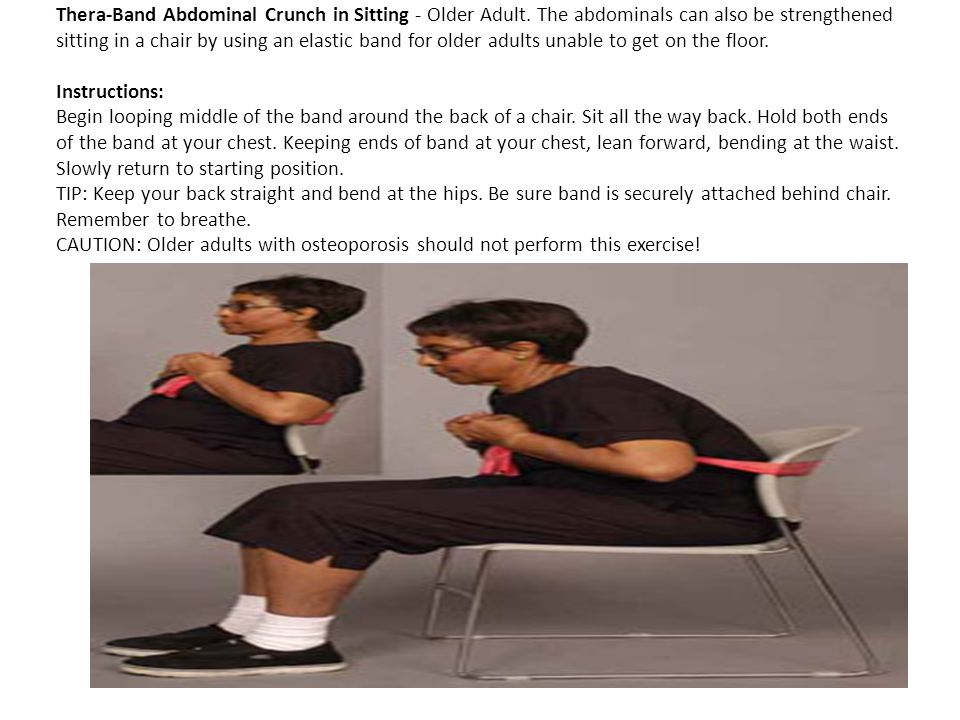 Thera-Band Abdominal Crunch in Sitting - Older Adult