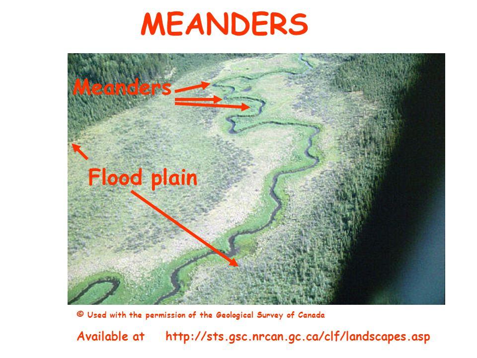 MEANDERS Meanders Flood plain