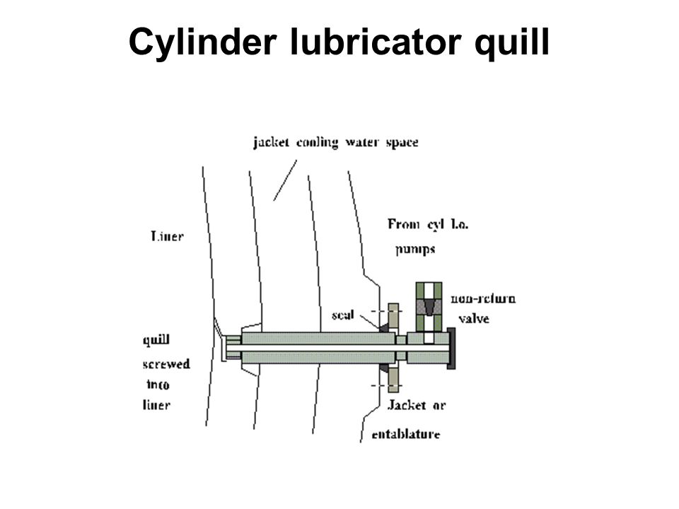 Cylinder lubricator quill