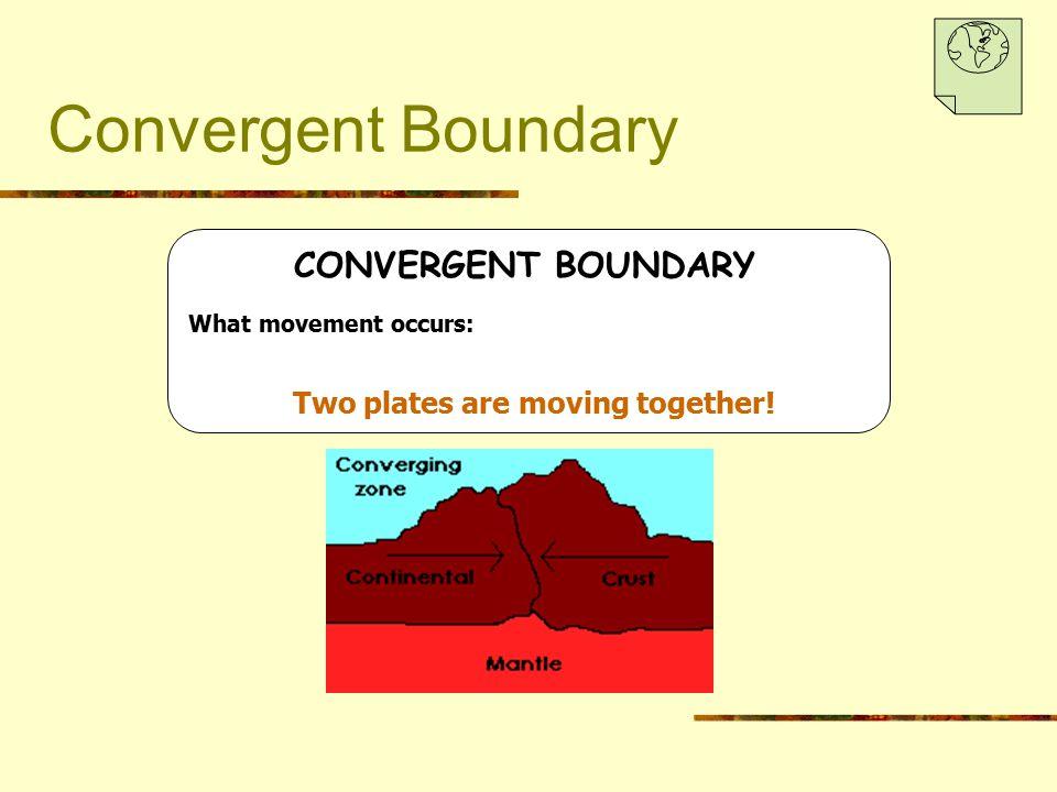 Convergent Boundary CONVERGENT BOUNDARY