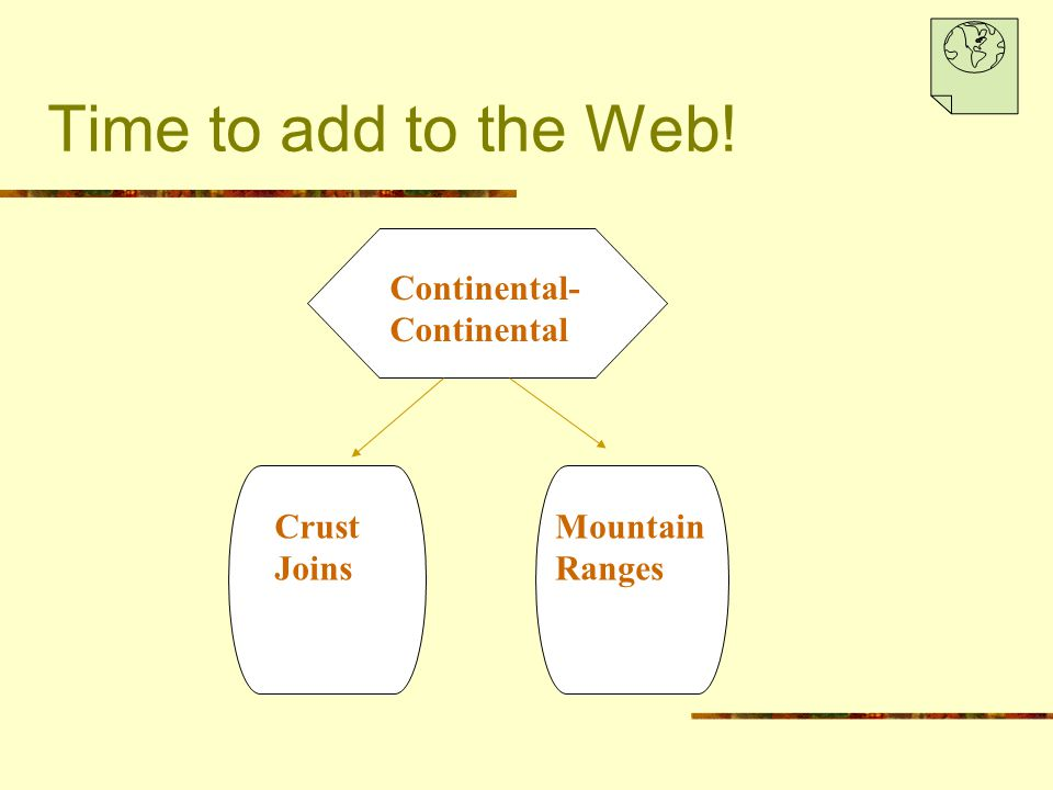 Time to add to the Web! Continental-Continental Crust Joins