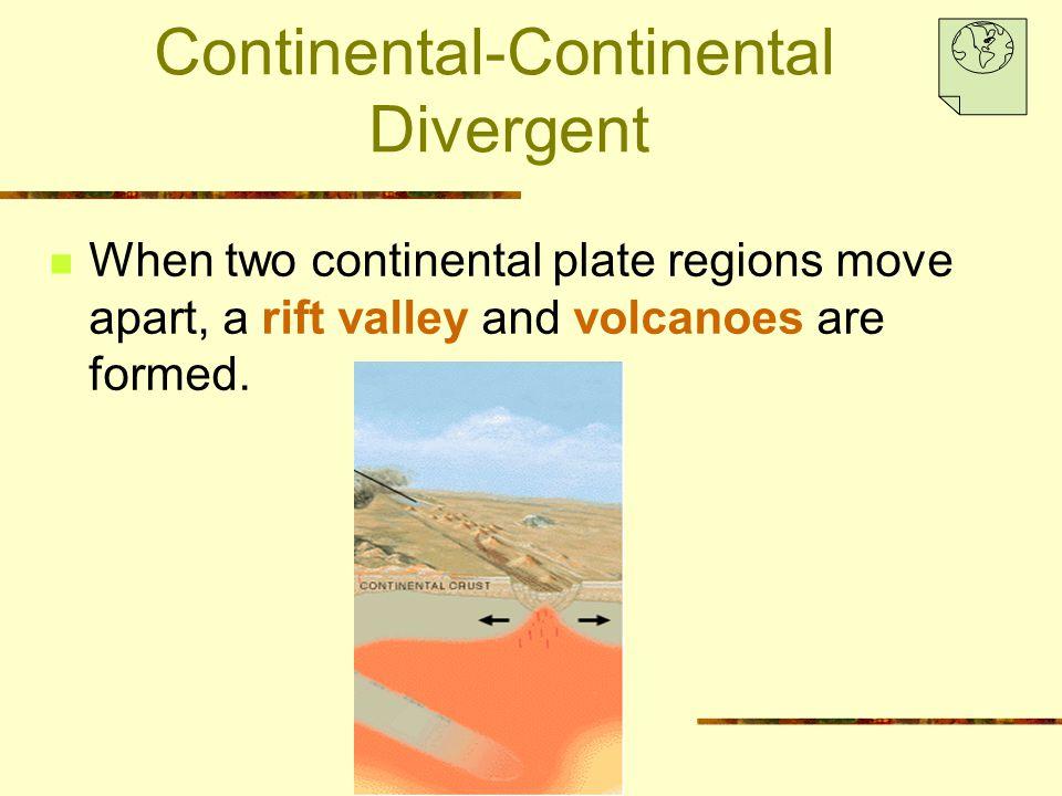 Continental-Continental Divergent