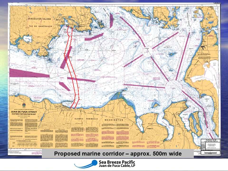 Proposed marine corridor – approx. 500m wide