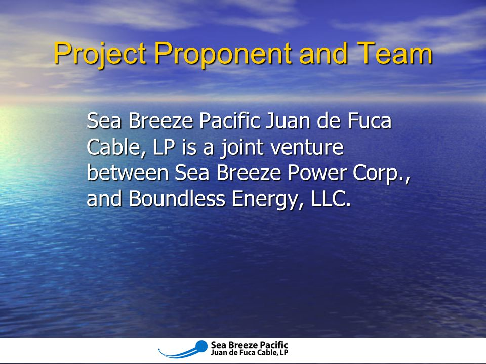 Project Proponent and Team
