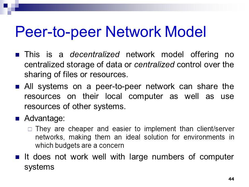 Peer-to-peer Network Model