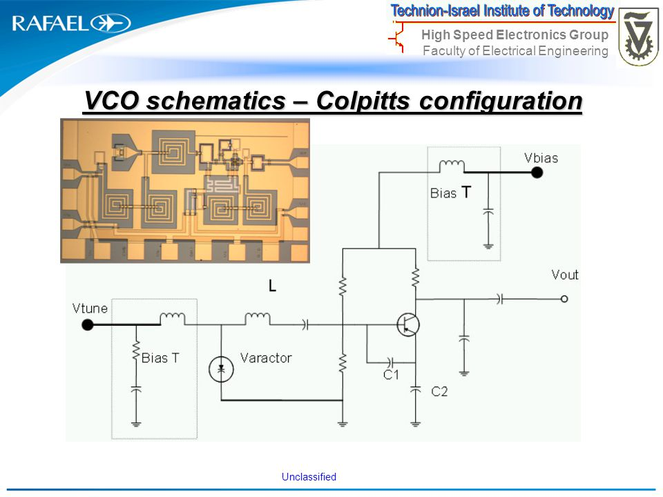 VCO schematics – Colpitts configuration
