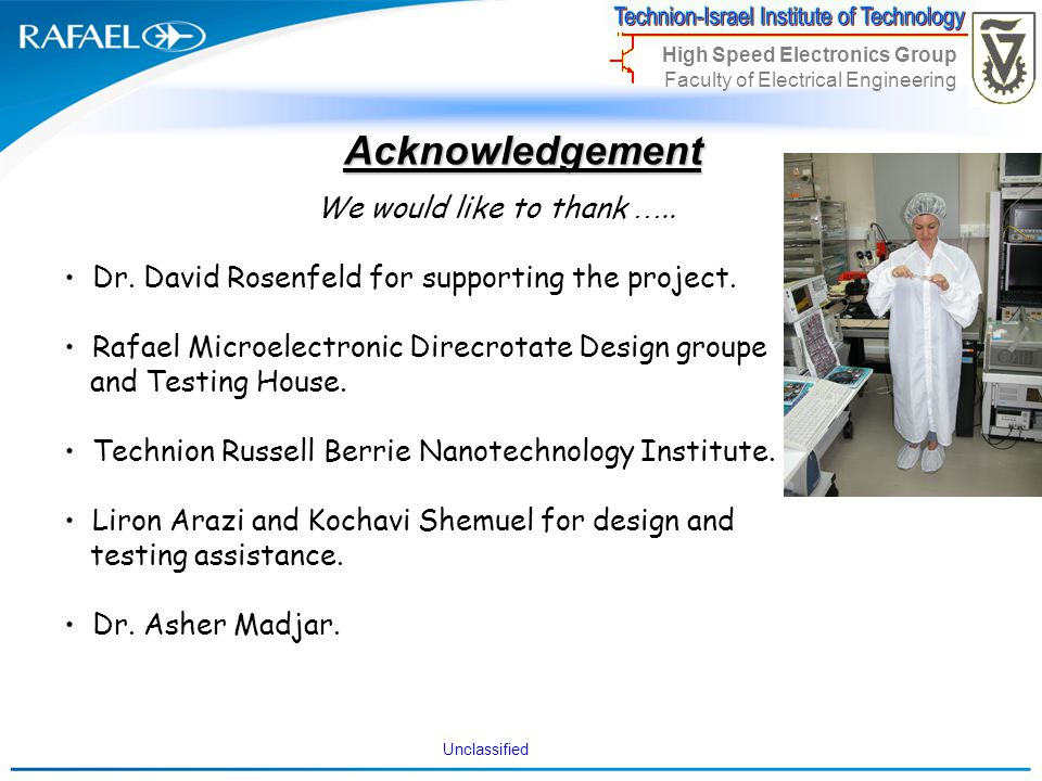 Acknowledgement We would like to thank …..