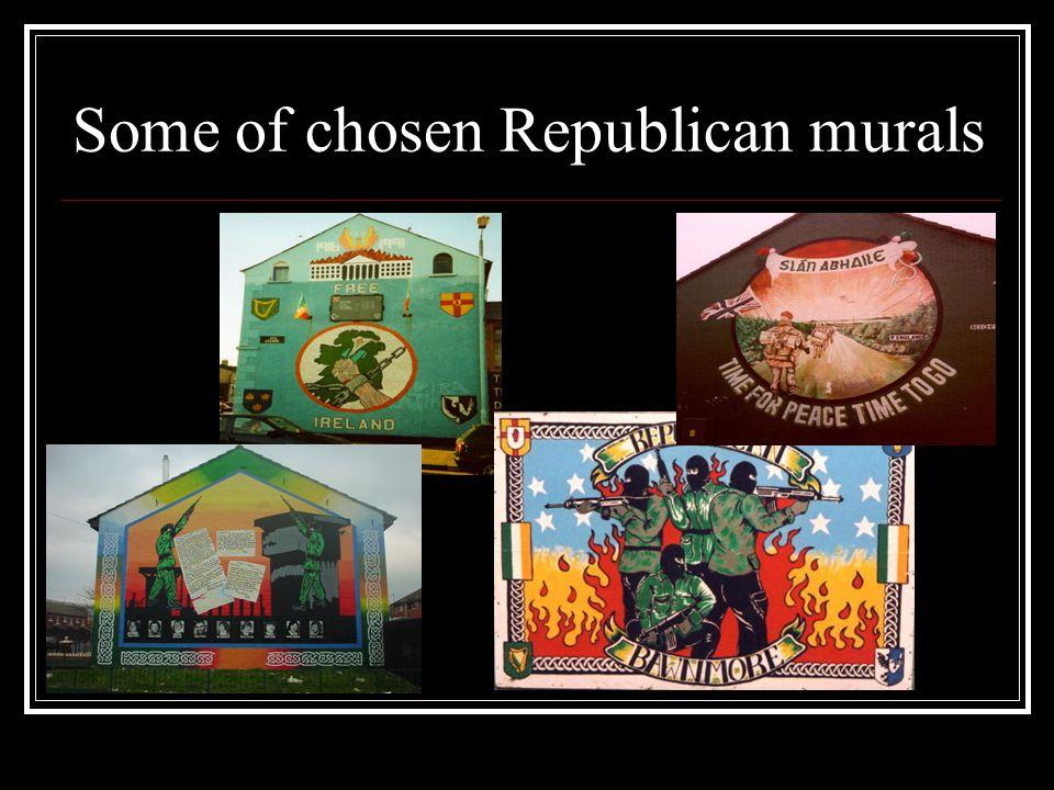 Some of chosen Republican murals