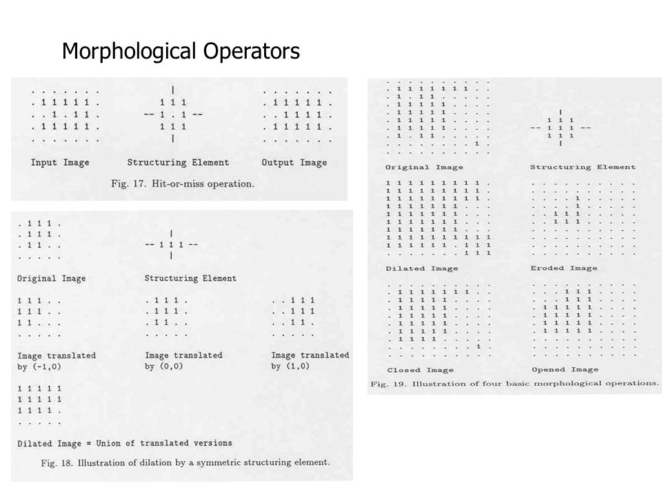 Morphological Operators