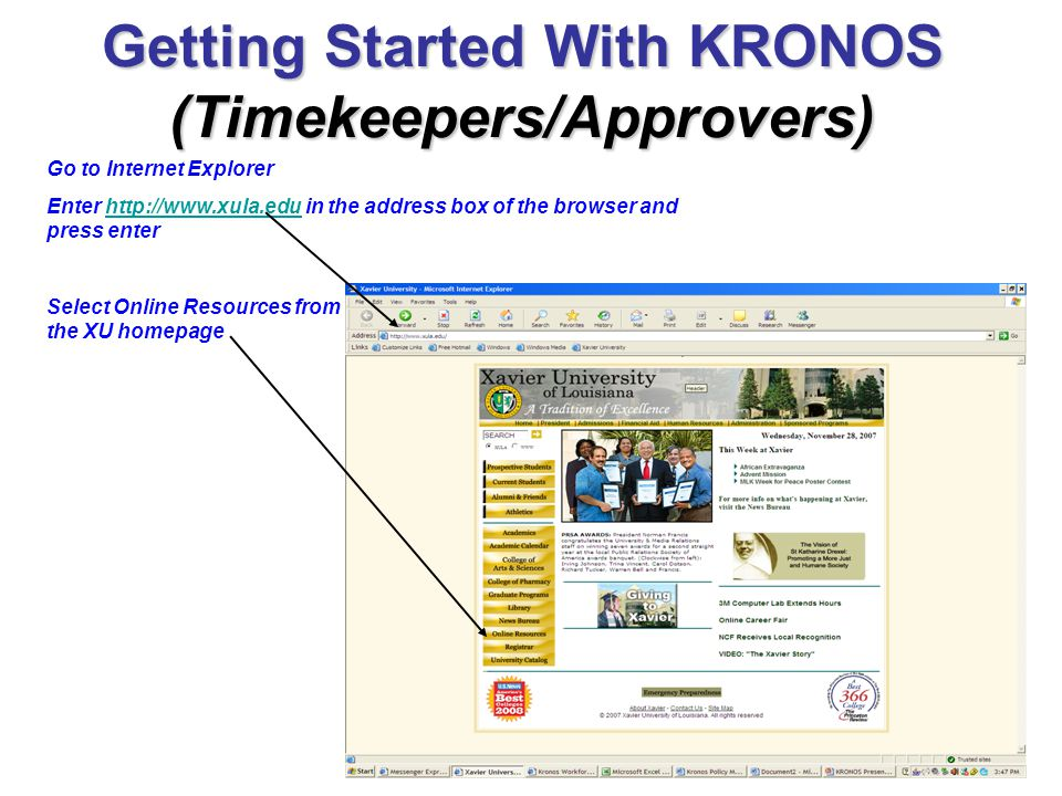 Getting Started With KRONOS (Timekeepers/Approvers)
