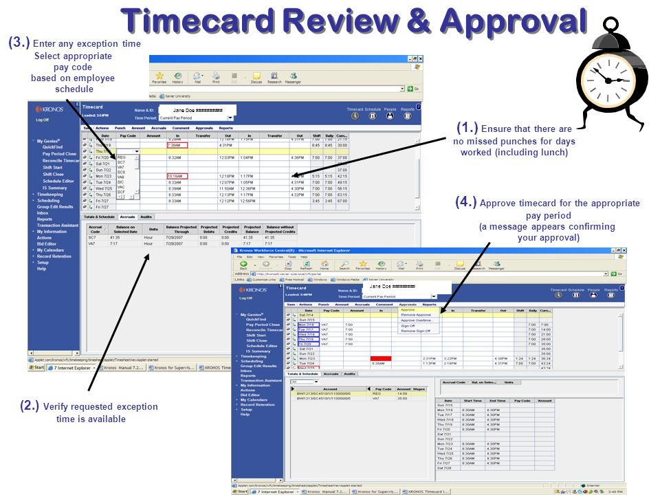Timecard Review & Approval