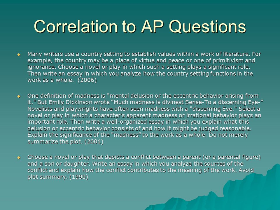 king lear in a cornfield ppt  correlation to ap questions