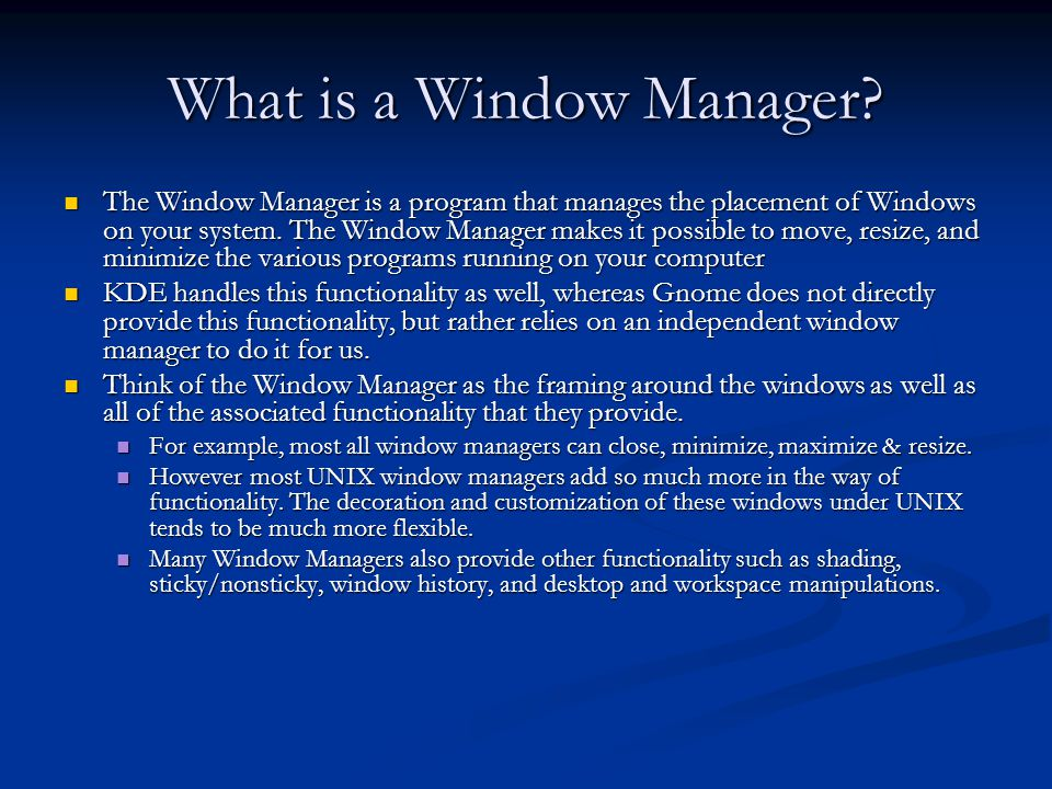 What is a Window Manager